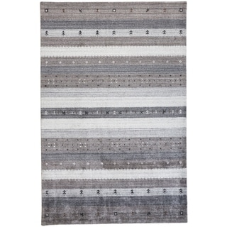 Grand Bazaar Yurie Charcoal 9 x 12 Handwoven Wool and Viscose Rug - 9' x 12'