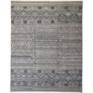 Grand Bazaar Eckhart Boho Blue/Gray Handmade Viscose and Wool Rug - 8' x 10'