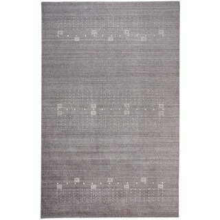 Grand Bazaar Yurie Gray 4 x 6 Handwoven Wool and Viscose Rug - 4' x 6'