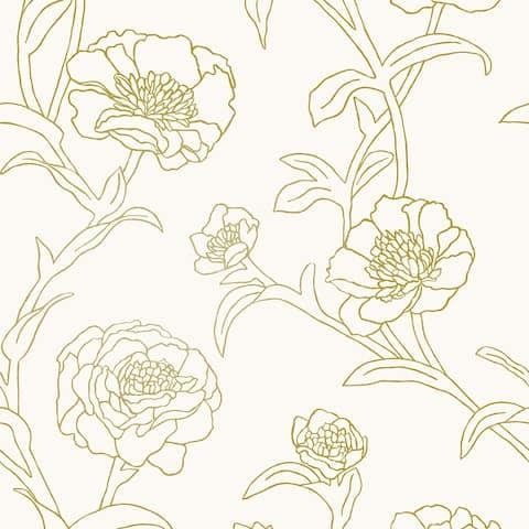 Peonies Peel and Stick Wallpaper