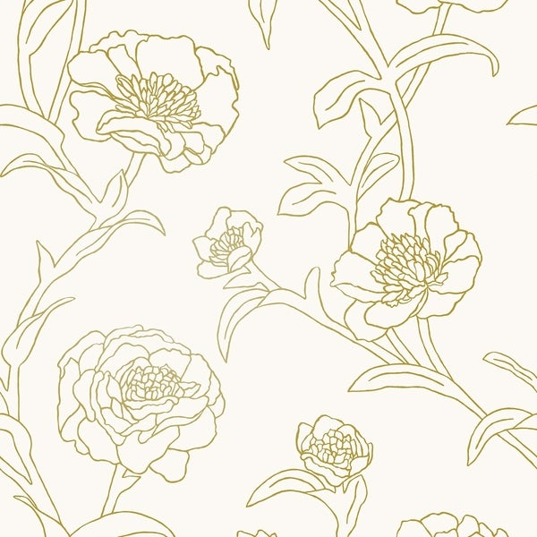 Peonies Peel and Stick Wallpaper
