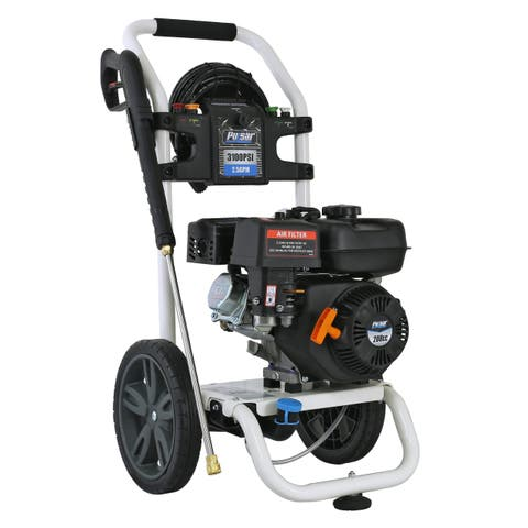 Pulsar 3,100 PSI Gas-Powered Pressure Washer with Quick Connect Nozzles - N/A