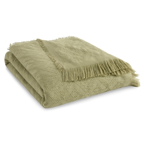 Tommy Bahama Diamond Fringe Cotton Throw. Opens flyout.