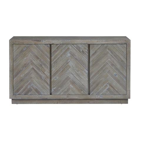 The Gray Barn Morning Star Solid Wood 3-door Sideboard in Rustic Latte