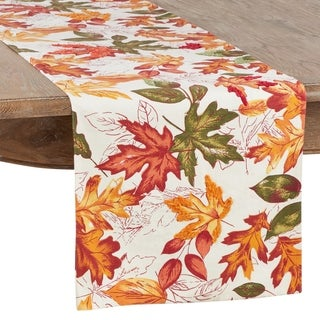 Link to Autumn Table Runner with Embroidered Leaves Design Similar Items in Table Linens & Decor