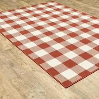Melody Plaid Check Area Rug
