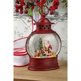 "Link to 10"" LED Battery Operated  Timer  Pets Lantern Water Globe Similar Items in Decorative Accessories"