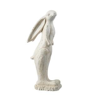 Large Crisp White Standing Rabbit Figurine