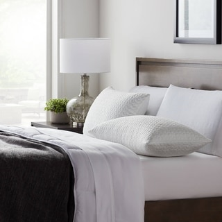Link to LUCID Comfort Collection Fiber + Shredded Foam Pillow Similar Items in Pillows