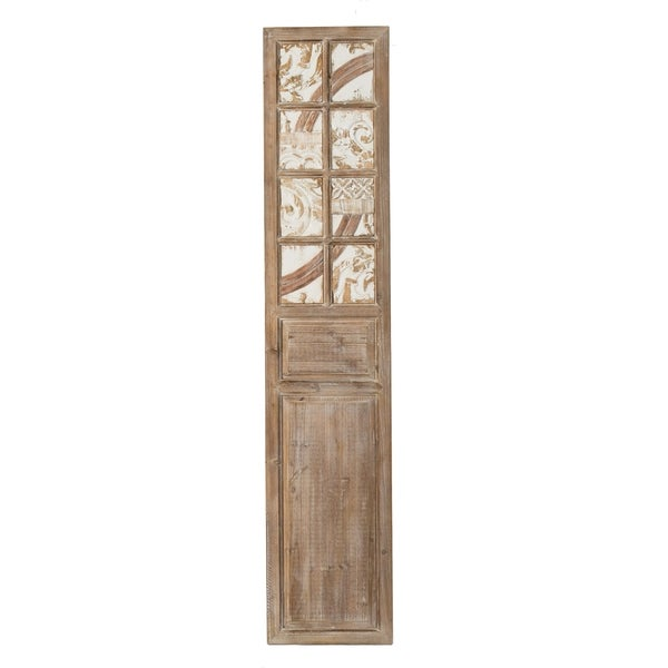 Weathered Brown and Cream 73-inch Single Decorative Panel