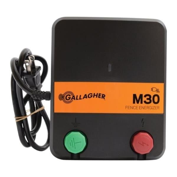 Gallagher M30 110 volt Electric Fence Energizer 5 mi. Black/Orange