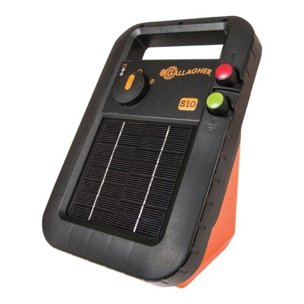 Gallagher S10 6 volt Solar Fence Energizer 3 mi. Black/Orange