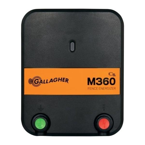 Gallagher M360 110 volt Electric Fence Energizer 55 mi. Black/Orange
