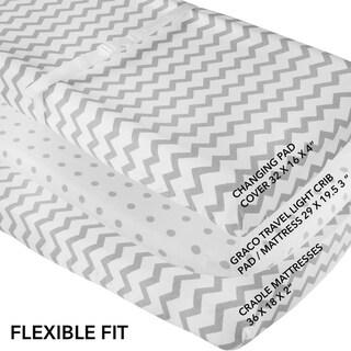 WaterProof Changing Pad-Cradle Sheet -2 Pack Grey
