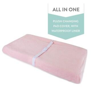 Waterproof Plush Velvet Change Pad Cover-Solid Pink