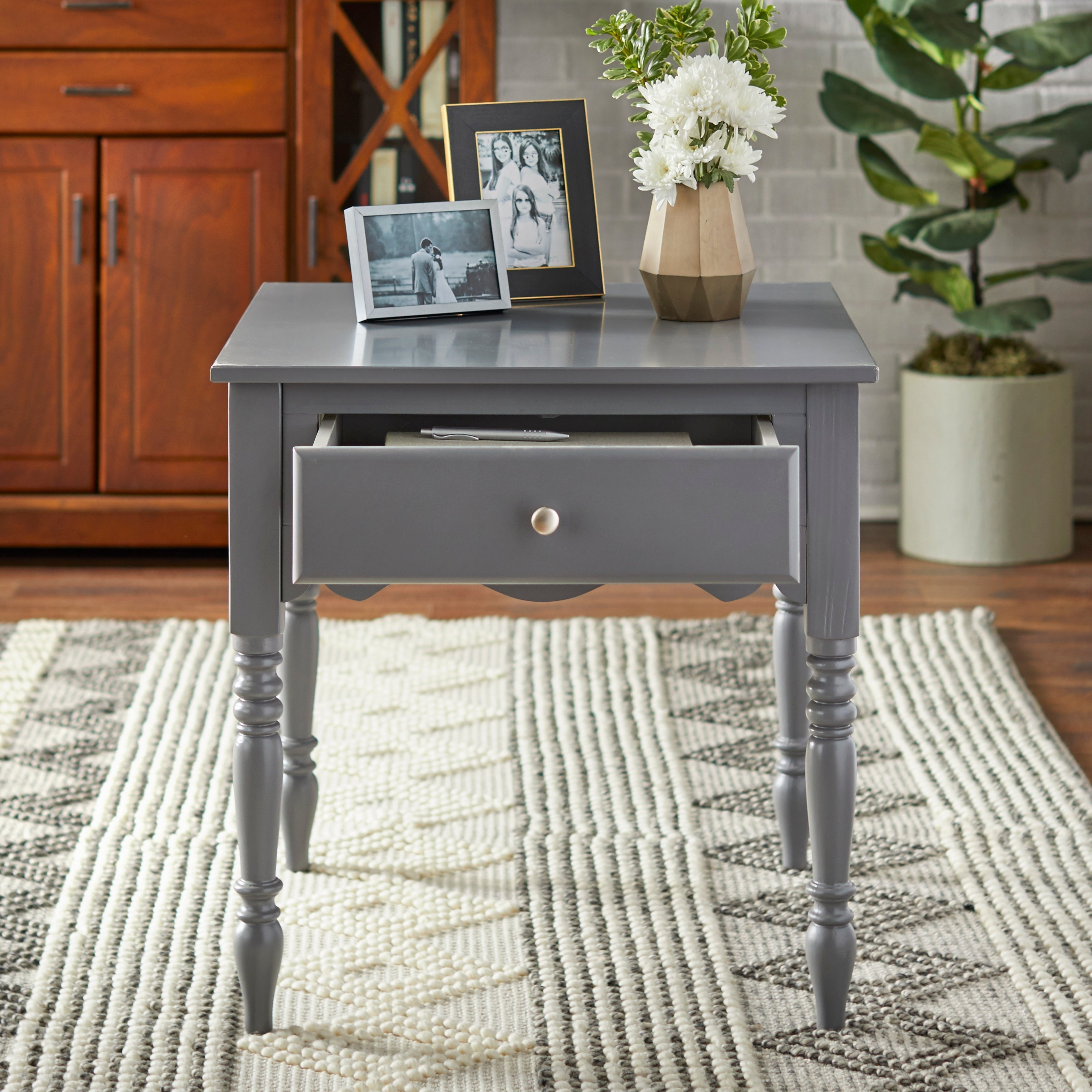 Simple Living Farmhouse End Table Overstock 29646248