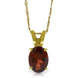0 85 Carat 14K Gold Visions Of Love Garnet Necklace