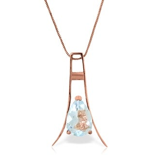 Link to 14K Rose Gold Natural Aquamarine Necklace Jewelry Similar Items in Necklaces