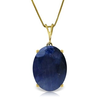 8 5 Carat 14K Gold Necklace Natural Oval Sapphire