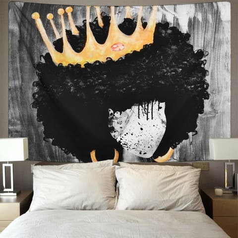 """African Woman Girl Crown Tapestry 59.1"""" x 51.2"""""""