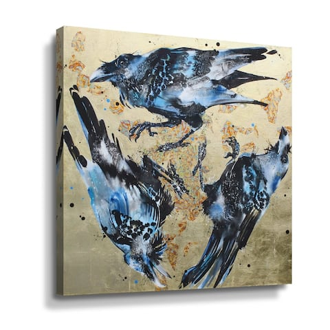 """Triskele Ravens"" Gallery Wrapped Canvas"