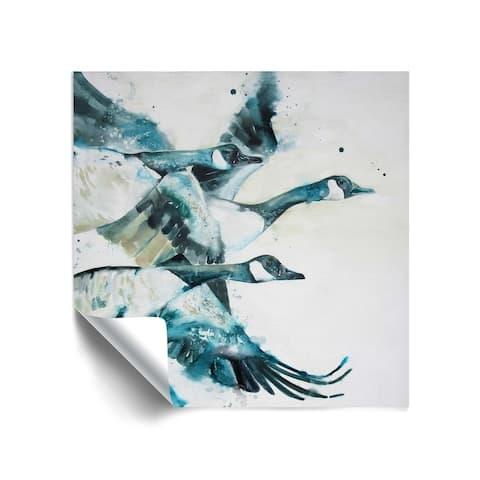 """""""Canada Geese V"""" Removable Wall Art Mural"""