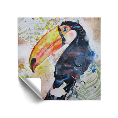 """Toucan 4"" Removable Wall Art Mural"