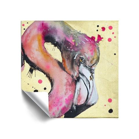 """Super Flamingo"" Removable Wall Art Mural"