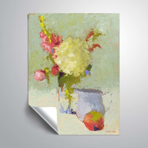 """"""" Hydrangea with Blue Pitcher"""" Removable Wall Art Mural"""