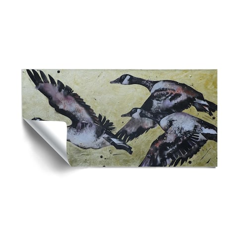 """""""Canada Geese IV"""" Removable Wall Art Mural"""