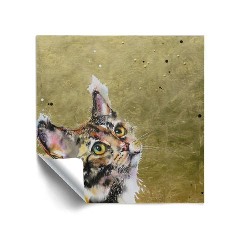 """Cat 30"" Removable Wall Art Mural"