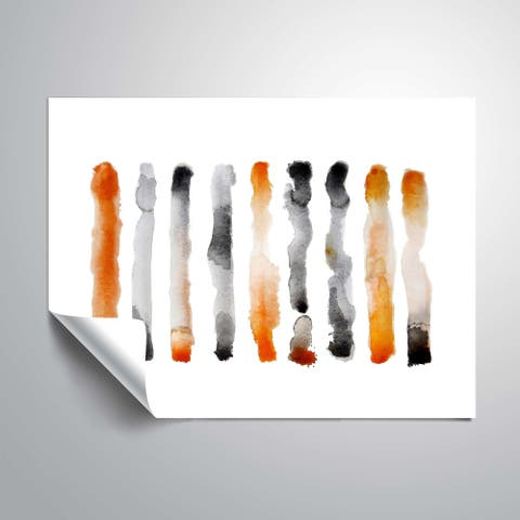 """ Orange and Black"" Removable Wall Art Mural"