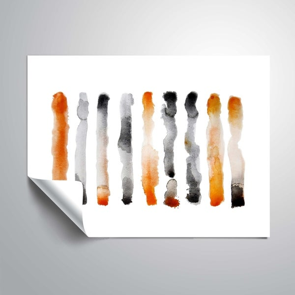 """ Orange and Black"" Removable Wall Art Mural. Opens flyout."