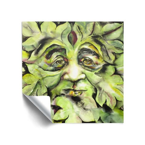 """Greenman"" Removable Wall Art Mural"