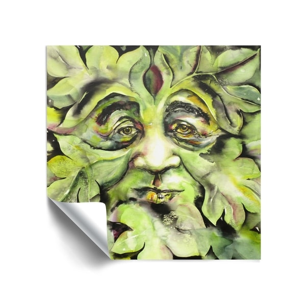 """Greenman"" Removable Wall Art Mural. Opens flyout."