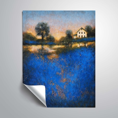 """Blue fields"" Removable Wall Art Mural"