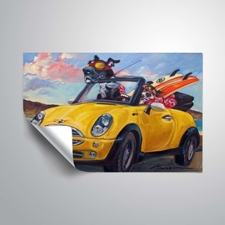 """Link to """"Sunup surfdogs"""" Removable Wall Art Mural Similar Items in Vinyl Wall Art"""