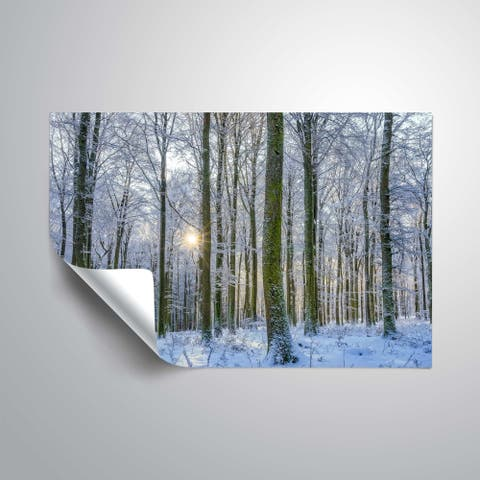 """""""Frosty Forest"""" Removable Wall Art Mural"""