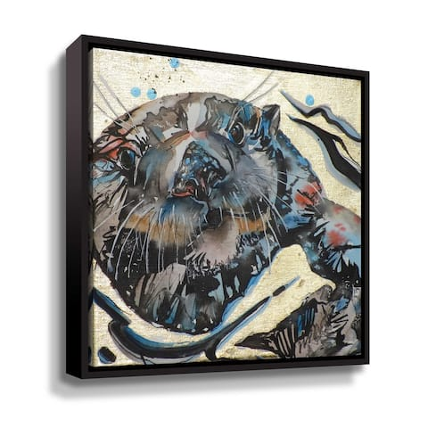"""Sea Otter 2"" Gallery Wrapped Floater-framed Canvas"