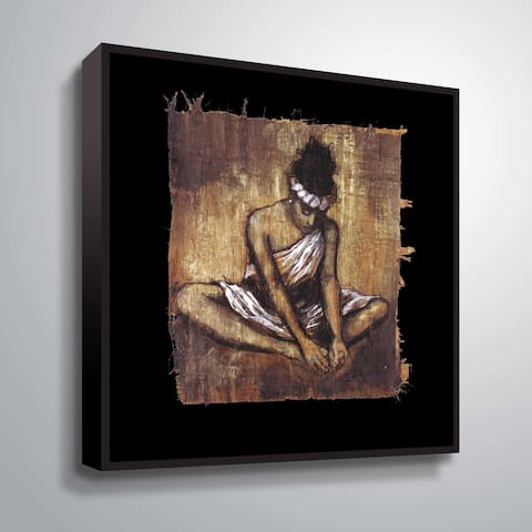 """""""Soulful Grace II"""" Gallery Wrapped Floater-framed Canvas"""