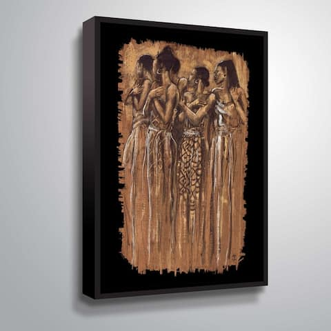 """Sisters in spirit"" Gallery Wrapped Floater-framed Canvas"