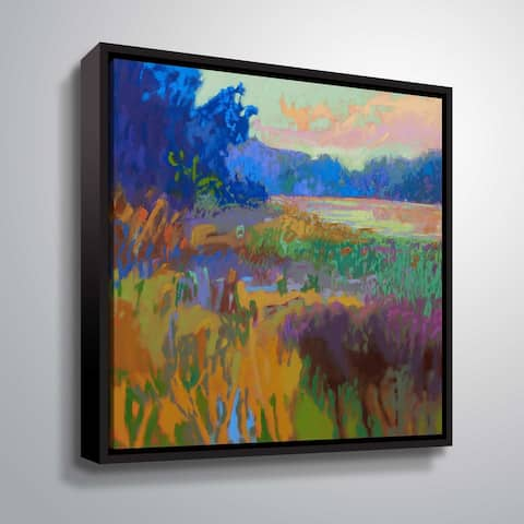 """Pastoral XV"" Gallery Wrapped Floater-framed Canvas"