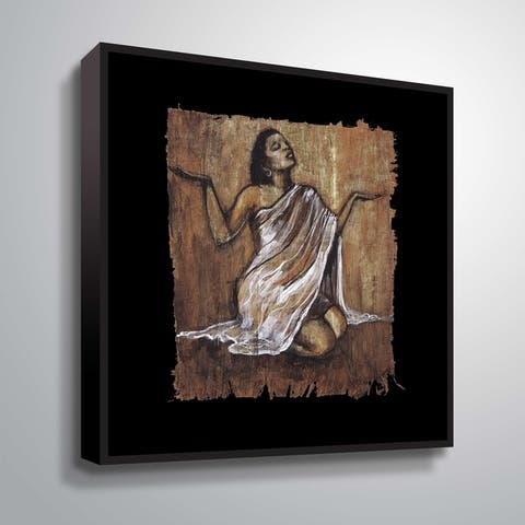 """""""Soulful Grace IV"""" Gallery Wrapped Floater-framed Canvas"""