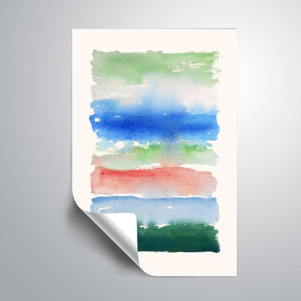 """"""" Cool Spectrum"""" Removable Wall Art Mural. Opens flyout."""