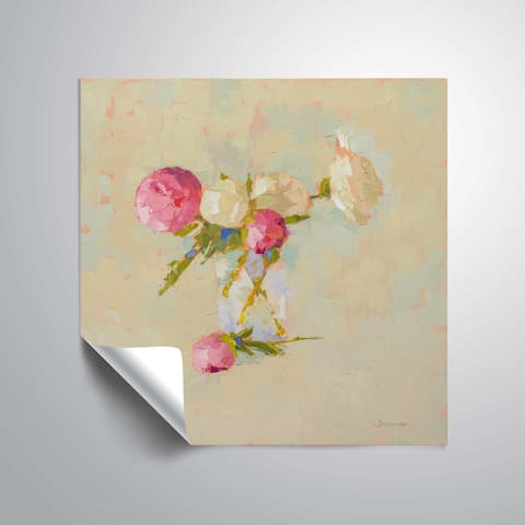""""""" Peonies in Glass No. 2"""" Removable Wall Art Mural"""