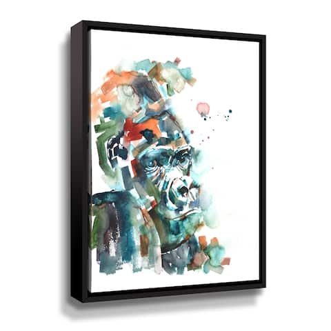 """""""Gorilla 2 dignity"""" Gallery Wrapped Floater-framed Canvas"""