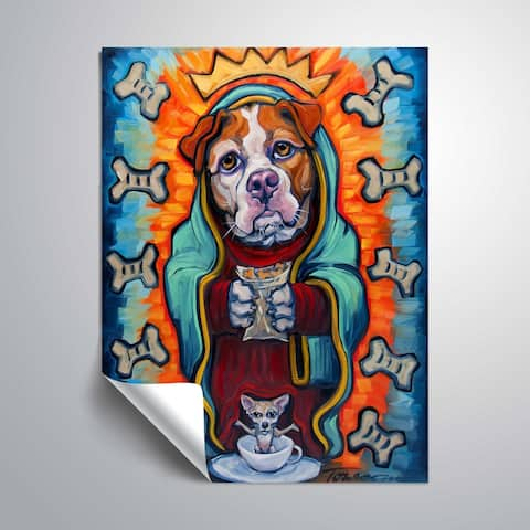 """""""Our lady of perpetual dog biscuits"""" Removable Wall Art Mural"""