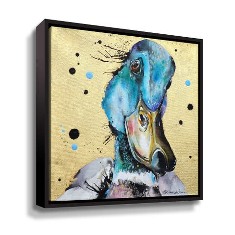 """Super Duck"" Gallery Wrapped Floater-framed Canvas"