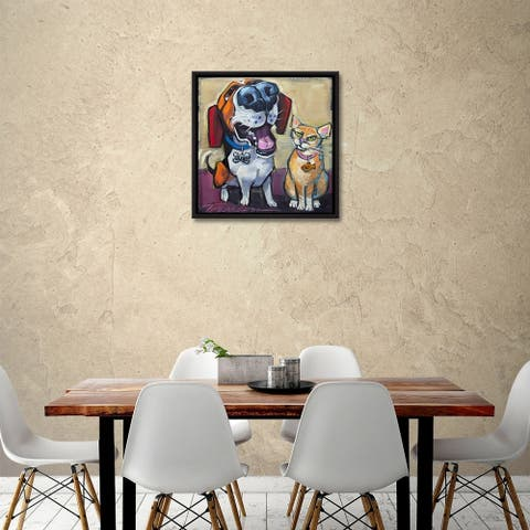 """""""Dude chill"""" Gallery Wrapped Floater-framed Canvas"""