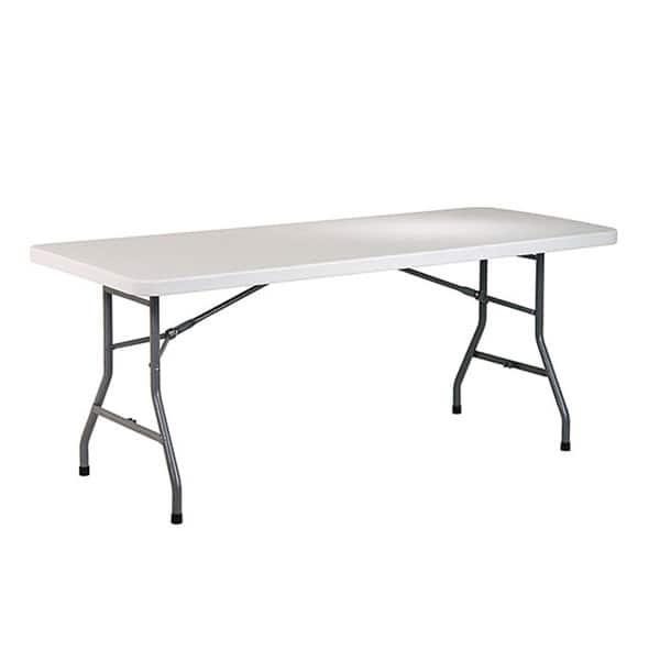 Office Star 6 Ft Center Fold Resin Top Multi Purpose Table